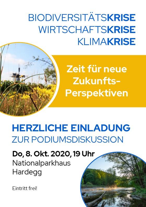 PODIUMSDISKUSSION: Donnerstag 8. Oktober 19 Uhr, Nationalparkhaus Hardegg